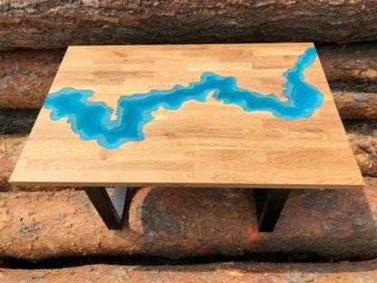 river tisch blau Rivertisch Epoxidharztisch