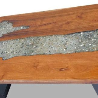 Tisch mit Epoxidharz esche